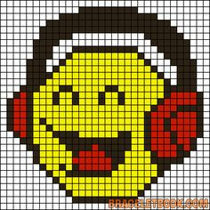 musique - music - casque - point de croix - cross stitch - Blog : http://broderiemimie44.canalblog.com/