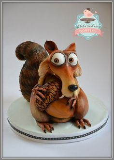 Scrat - Ice age cake - For all your cake decorating supplies, please visit craftcompany.co.uk