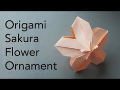 Tutorial for Origami Sakura Flower Ornament (Inspired by Makoto Yamaguchi) – Origami Community : Explore the best and the most trending origami Ideas and easy origami Tutorial Origami Paper Folding, Origami And Kirigami, Fabric Origami, Origami Fish, Dollar Origami, Origami Ball, Oragami, Origami Flowers Tutorial, Origami Instructions