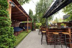Bar backyard design idea. Bar summer yard. Irish Pub Interior, Bar Interior, Interior And Exterior, Exterior Design, Backyard, Outdoor Decor, Summer, Home Decor, Patio