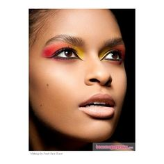 Beautiful Red and Yellow Makeup Party Makeup Ideas pictures ❤ liked on Polyvore