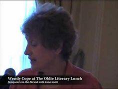 Wendy Cope reads her poem, 'Bloody Men'