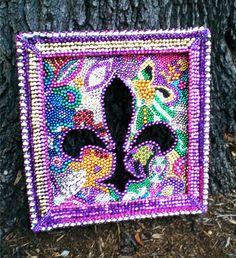 Fleur de lis bead art