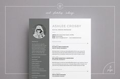 Resume / CV Template - Ashlee page) --- Welcome to Keke Resume Boutique! Our templates are created to the highest standard of modern design and editability. They are the stepping stone on Cover Letter Template, Cv Cover Letter, Cv Template, Letter Templates, Resume Templates, Design Templates, Best Resume, Resume Cv, Resume Design