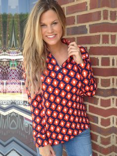 f2681c4fcae4 Gators Game Day Pullover - Orange Blue from Chocolate Shoe Boutique Gator  Game