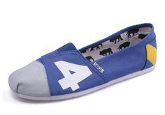 Cheap Toms Blue Grey men shoes sale
