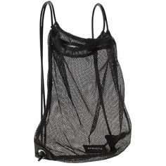 Athleta Women Mesh Drawstring Bag Size One Size ($13) ❤ liked on Polyvore featuring bags, backpacks, backpack, accessories, black, knapsack bag, drawstring backpack bags, rucksack bag, mesh backpack and backpack bags
