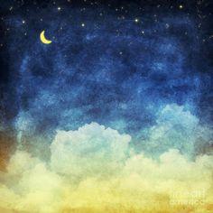 Cloud And Sky At Night Painting by Setsiri Silapasuwanchai