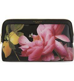 TED BAKER Januar Citrus Bloom large washbag (Black