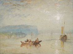 Joseph Mallord William Turner, 'Scene on the Loire (near the Coteaux de Mauves)' c.1826-30, watercolor and pen and ink on paper (The Ashmolean Museum)