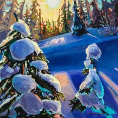 Stephanie Gauvin is a contemporary landscape painter, a Signature member of the Federation of Canadian Artists out of British Columbia. Contemporary Landscape, Canadian Artists, British Columbia, Painting Inspiration, Shadows, Artwork, Darkness, Work Of Art, Auguste Rodin Artwork
