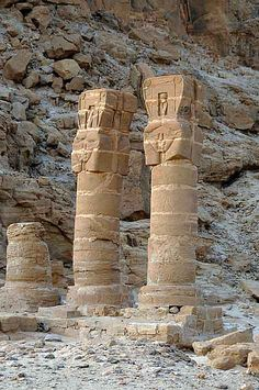 Remains of the Temple of Amun, an archaeological site at Jebel Barkal in Northern State, Sudan:  It was built in the 13th century BC along a trade route linking   central Africa, Arabia, and Egypt.  A UNESCO World Heritage Site, it is still considered sacred to the local population.