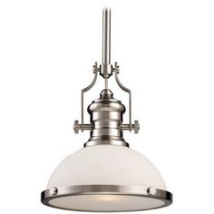 Chadwick Pendant Light  Product #: P694919  by Landmark     Description: Satin Nickel 1-Light Pendant Light -       $218.00