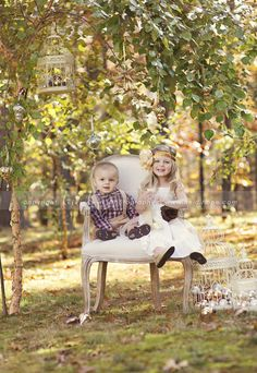 Cute Outside Siting ina Chair Picture...Heidi Hope Photography