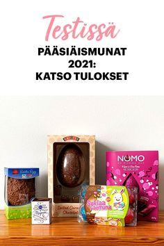 Usein suklaamunan sisältä paljastuu yllätys, mutta leluttomiakin versioita löytyy. Testasimme marketissa myytävät aikuisten pääsiäismunat. Lelun sijaan pakkauksista paljastui syötäviä yllätyksiä. Easter Recipes, Canning, Free, Home Canning, Conservation