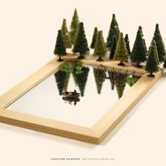 Minis, Miniature Calendar, Miniature Photography, Printable Calendar Template, Tiny World, Kids Calendar, Miniture Things, Art Plastique, Creative Photography