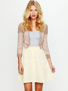 Poplin and lace skirt.
