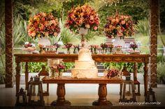Mesa do bolo, paleta de cores perfeita