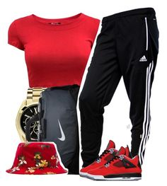 """092514"" by clickk-mee ❤ liked on Polyvore featuring Michael Kors, NIKE, OBEY Clothing and adidas"