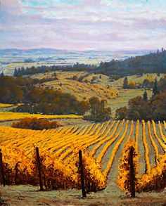 Youngberg Vineyard Oregon by Michael Orwick Oil ~ 48 x 60