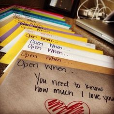 Write sweet letter to your family members, best friend, or lover when your going out of town, away for college, or simply just because!!!