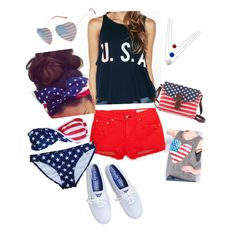 Fourth of July outfit ideas! By brookeebaker on polyvore