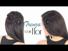 PEINADOS CON TRENZA DE FLOR - YouTube