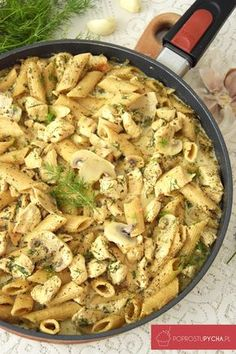 Kurczak z makaronem w sosie koperkowo-czosnkowym Pasta Recipes, Vegan Recipes, Easy Food To Make, Best Appetizers, Food Design, Cooker Recipes, Food Inspiration, Breakfast Recipes, Easy Meals
