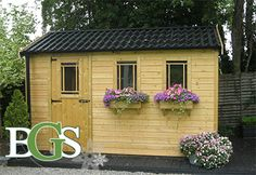 Cottage style garden shed.Boyne garden sheds. High quality garden sheds in Ireland Garden Sheds, Cottage Style, Outdoor Spaces, Tiny House, Ireland, Outdoor Structures, Happy, Ideas, Chalet Style