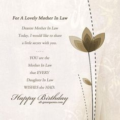 Beautiful Birthday Wishes For Mother Law Best