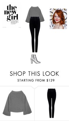 """""""Sans titre #8820"""" by ghilini-l-roquecoquille ❤ liked on Polyvore featuring Citizens of Humanity and Yves Saint Laurent"""