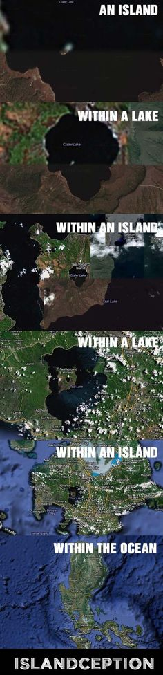An island within an lake within an island...... ect.