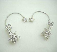 Avon Rhinestone Earrings Wrap Around Ear by JellyBellyJewels
