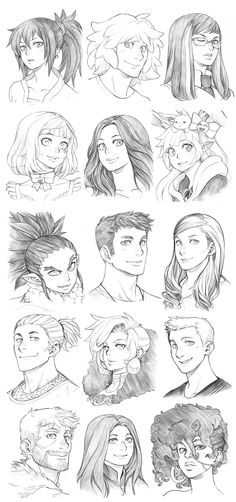 151108 - Headshot Commissions Sketch Dump 9 by Runshin on DeviantArt