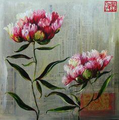 Peintures Fleurs/Sophie Adde