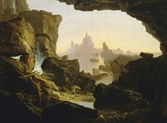 The-subsiding-of-the-waters-of-the-deluge-thomas-cole Painting - The Subsiding Of The Waters Of The Deluge by Thomas