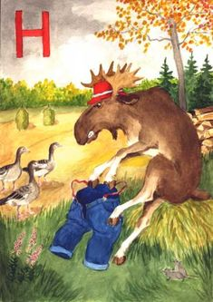 henri-h Moose Art, Teaching, School, Kids, Animals, Young Children, Boys, Animales, Animaux