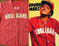 Bruno Mars 24K Magic Baseball Jersey Concert Tee Hooligans T-Shirt Cardi B Finesse Hip Hop Hiphop Music shirt