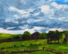 Jessica Miller Paintings: Clouds Over Hemlock Hill