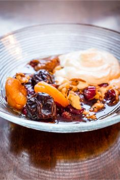 Jennifer Irvine's Plumped-up Fruit Salad, with California Prunes & Zesty Cream Cheese Dressing