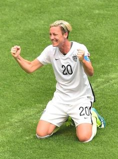 Abby Wambach #20 of the United States celebrates the 5-2 victory over Japan.
