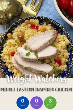 This tasty middle eastern inspired spiced chicken is zero SmartPoints for anyone following the Weight Watchers Blue or Purple plans. It is 3 SmartPoints per portion on the Green plan. A tasty and filling Weight Watchers lunch or dinner recipe. #wwlunchrecipe #weightwatcherssmartpoints #smartpoints #ww #wwblueplan wwpurpleplan #wwgreenplan #wwrecipes #wwchickenrecipes Weight Watchers Salad, Weight Watchers Lunches, Weight Watcher Dinners, Weight Watchers Chicken, Friend Chicken Recipe, Chicken Recipes, Ww Recipes, Lunch Recipes, Dinner Recipes