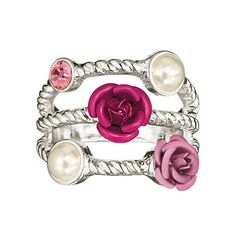 Bright blossoms and delicate flowers bring a touch of romance to your every day with this jewelry set. Rose Bulls, Fashion Rings, Fashion Jewelry, Avon Rings, Watch Necklace, Jewelry Shop, Sterling Silver Earrings, Avon Fashion, Romance