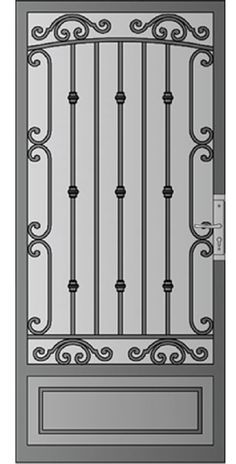 Security Screen Doors : Great Gates and Whiting Iron in Phoenix AZ Wrought Iron Security Doors, Wrought Iron Stairs, Main Entrance Door, Entry Doors, Gate Design, Door Design, Door Grill, Security Screen, Screen House