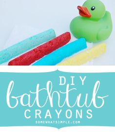 DIY bathtub crayons - kids LOVE these!!
