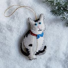 $12 2.5x4, 100% felt, ASPCA® Animal Ornament - Nala the Cat #westelm