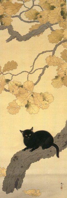「黒き猫」 菱田春草 明治43年(1910年) 重要文化財