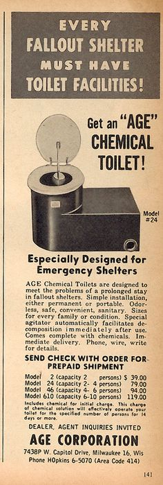 Fallout shelter toilet