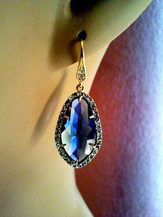 Joli rond nature Saphir Bleu Gemme Lady sort avec anneaux argentés Taille 6-13