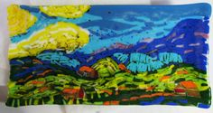 Fused glass - Inspired by Monet Fields - Fused Glass Plate, Glass Platter, Art Glass, glass art, fused glass, handmade, dish, Slumped Glass